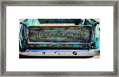 Chevrolet Truck Tail Gate Emblem -0839c Framed Print by Jill Reger