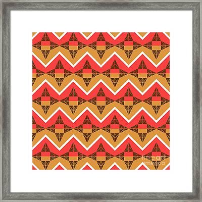 Chevron And Triangles Framed Print by Gaspar Avila