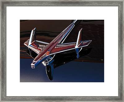Chevy Hood Ornament Framed Print by Gary Adkins