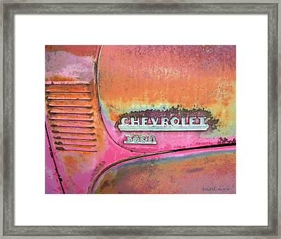 Chevy Lines Framed Print by Jerry McElroy