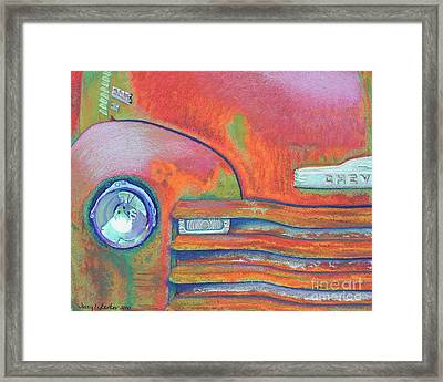 Chevy Rust Framed Print by Tracy L Teeter