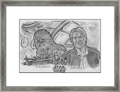 Chewie Were Home Framed Print by Chris  DelVecchio