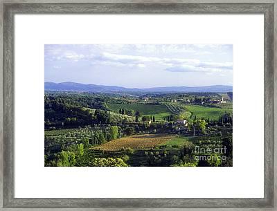 Chianti Region In Italy Framed Print by Gregory Ochocki and Photo Researchers