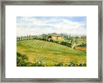 Chianti Villa Framed Print by Vikki Bouffard