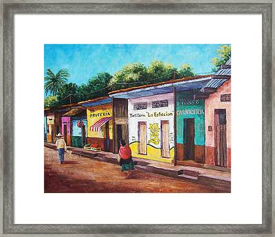 Chiapas Neighborhood Framed Print by Candy Mayer