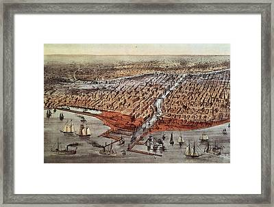 Chicago As It Was Framed Print by Currier and Ives