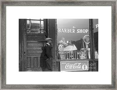 Chicago: Barber Shop, 1941 Framed Print by Granger