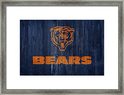 Chicago Bears Barn Door Framed Print by Dan Sproul
