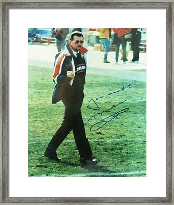 Mike Ditka Chicago Bears Head Coach Framed Print by Donna Wilson