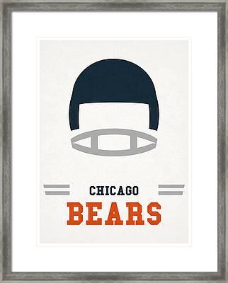 Chicago Bears Vintage Art Framed Print by Joe Hamilton