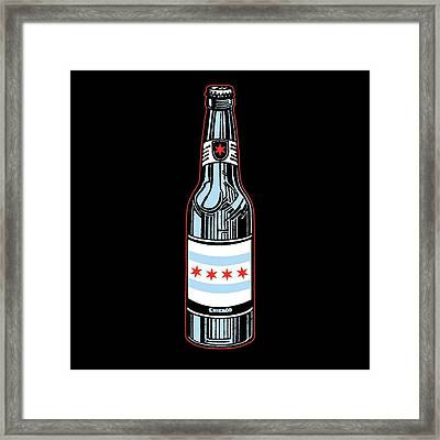 Chicago Beer Framed Print by Mike Lopez