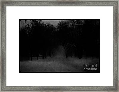 Chicago Blizzard - Monochrome Framed Print by Frank J Casella