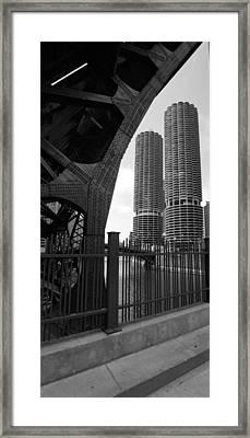 Chicago Bridge And Buildings Framed Print by Dmitriy Margolin
