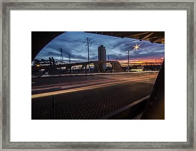 Chicago Bridge At Dusk  Framed Print by Sven Brogren
