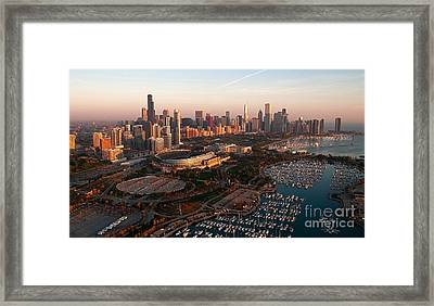 Chicago By Air Framed Print by Jeff Lewis