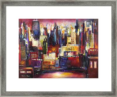 Chicago City View Framed Print by Kathleen Patrick
