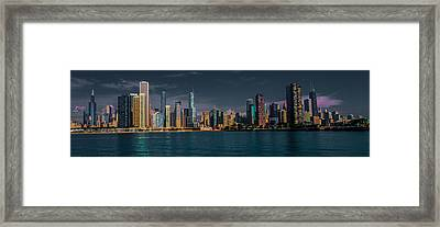 Chicago Cityscape Framed Print by Jim DeLillo