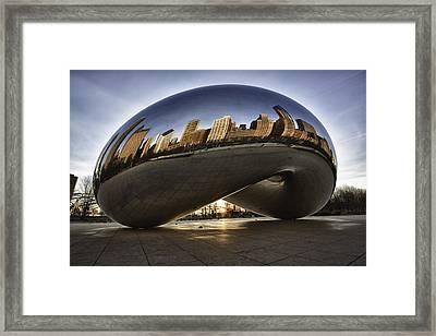 Chicago Cloud Gate At Sunrise Framed Print by Sebastian Musial