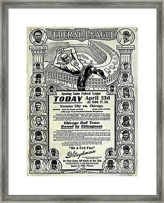 Chicago Cub Poster Framed Print by Jon Neidert
