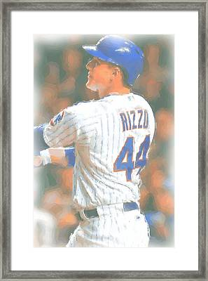 Chicago Cubs Anthony Rizzo 2 Framed Print by Joe Hamilton
