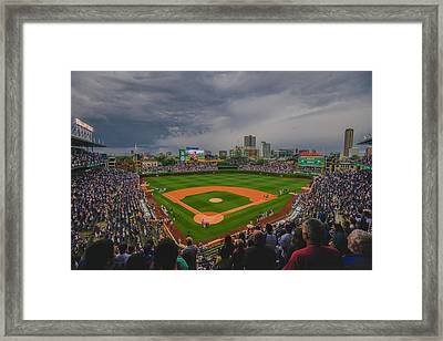 Chicago Cubs Wrigley Field 4 8213 Framed Print by David Haskett
