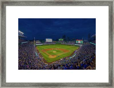Chicago Cubs Wrigley Field 9 8357 Framed Print by David Haskett