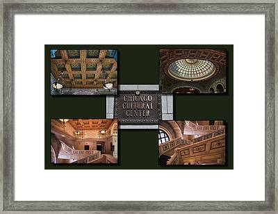 Chicago Cultural Center Collage Framed Print by Thomas Woolworth