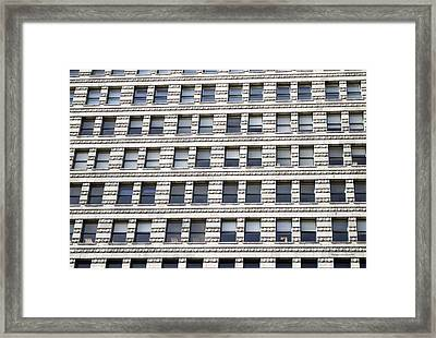 Chicago Downtown Window Facade Framed Print by Thomas Woolworth