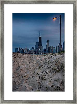 Chicago From North Avenue Beach Framed Print by Mike Burgquist
