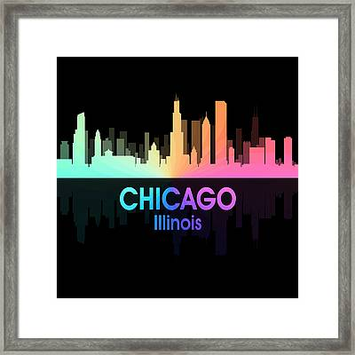 Chicago Il 5 Squared Framed Print by Angelina Vick