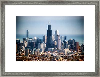 Chicago Looking East 02 Framed Print by Thomas Woolworth