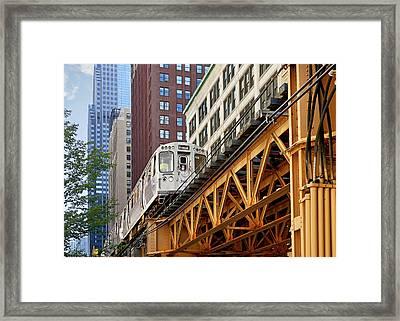 Chicago Loop 'l' Framed Print by Christine Till