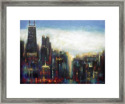 Chicago - Misty Morning Framed Print by Joseph Catanzaro
