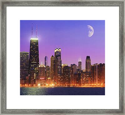 Chicago Oak Street Beach Framed Print by Donald Schwartz