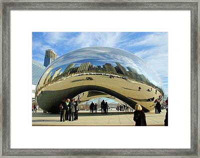 Chicago Reflected Framed Print by Kristin Elmquist
