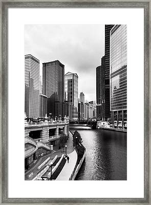Chicago Riverview Framed Print by Peter Chilelli