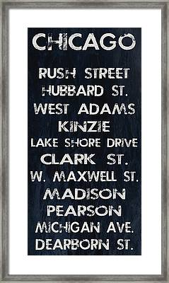 Chicago Sites Framed Print by Jaime Friedman