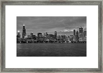 Chicago Skyline Framed Print by Jeff Lewis