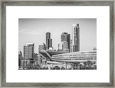 Chicago Skyline With Soldier Field And Willis Tower  Framed Print by Paul Velgos
