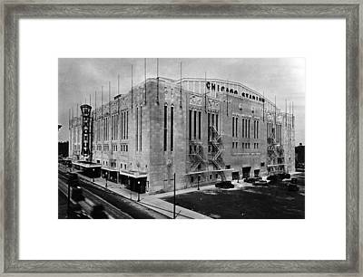 Chicago Stadium, Chicago, Illinois Framed Print by Everett