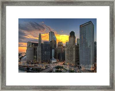 Chicago Storm Framed Print by Jeff Lewis