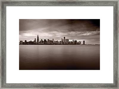 Chicago Storm Framed Print by Steve Gadomski