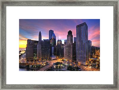 Chicago Sunrise Framed Print by Jeff Lewis