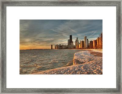 Chicago Sunrise Framed Print by Steve Gadomski