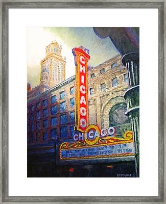 Chicago Theater Framed Print by Michael Durst