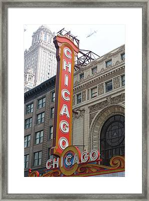 Chicago Theater Sign Framed Print by Lauri Novak