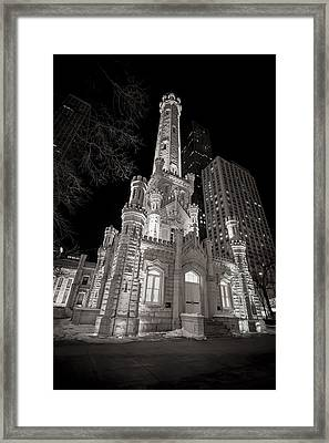 Chicago Water Tower Framed Print by Adam Romanowicz