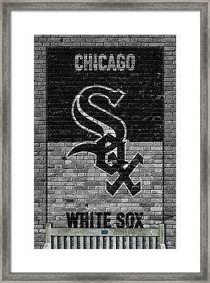 Chicago White Sox Brick Wall Framed Print by Joe Hamilton