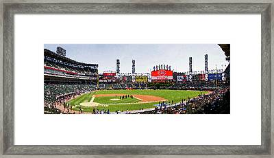 Chicago White Sox Family Day Panorama 04 Pa 01 Framed Print by Thomas Woolworth