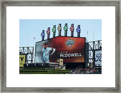 Chicago White Sox Jack Mcdowell Scoreboard Framed Print by Thomas Woolworth